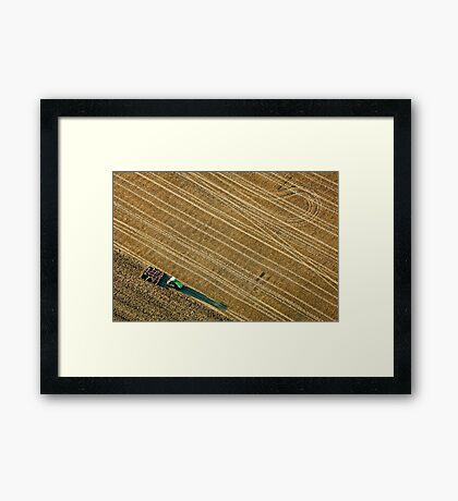 Ploughing a Field in Berkshire Framed Print
