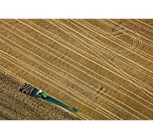 Ploughing a Field in Berkshire Photographic Print