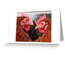Chicken sisters Greeting Card