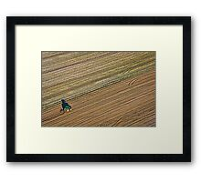 Ploughing in West Berkshire Framed Print