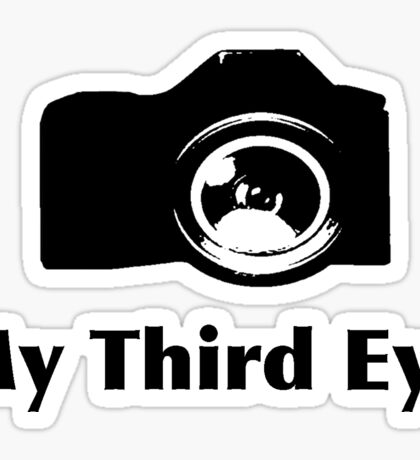 My third eye tee- See thru to shirt color Sticker