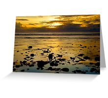 Sand Bar Sunset Greeting Card