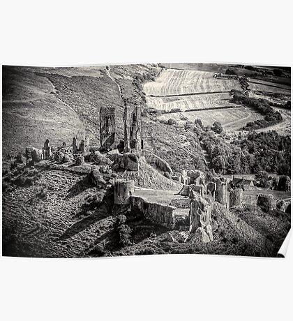 Corfe Castle Dorset England Poster