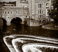 Pulteney Bridge and Weir Bath England by mlphoto