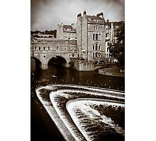 Pulteney Bridge and Weir Bath England Photographic Print