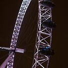 London Eye at Night by mlphoto