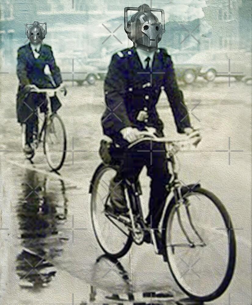 cybermen on bikes by Vin  Zzep
