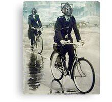 cybermen on bikes Canvas Print