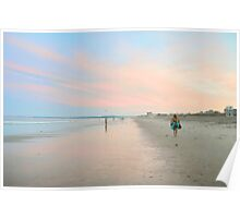 Sunset at Old Orchard Beach... Poster