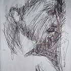 Christ sketch -(260413)- A4 white sketchbook/black biro pen by paulramnora