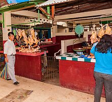 Chicken Shops at the Mercado - Playas, Ecuador by Paul Wolf