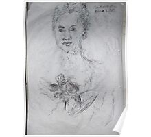 National Gallery/Old Master copy -(260413)- A4 white sketchbook/black biro pen Poster