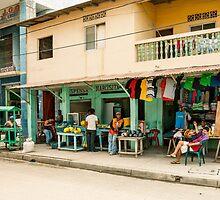 Playas Street - Playas, Ecuador by Paul Wolf