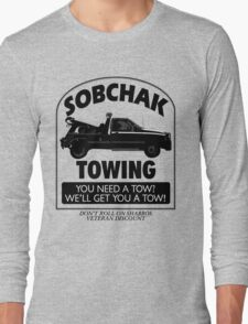 The Big Lebowski Inspired - Sobchak Towing - You Want a Toe? Long Sleeve T-Shirt