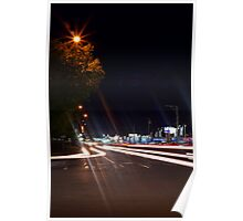 Cruising Through The Intersection Poster