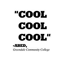"COMMUNITY ABED ""COOL COOL COOL"" Photographic Print"