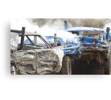 Demolition Derby Canvas Print