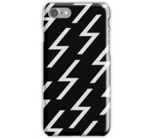 white bolts iPhone Case/Skin