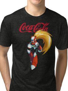Mega Man X: Coca Cola Zero Tri-blend T-Shirt
