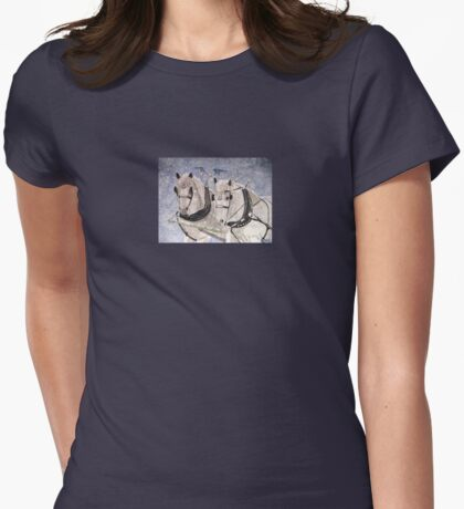 And Then Came The Snow Womens Fitted T-Shirt