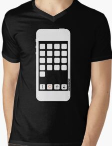 I Love House Music B&W Mens V-Neck T-Shirt