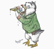 Grunge penguin taking an ice cool break. by HedvigU