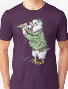 Grunge penguin taking an ice cool break. Unisex T-Shirt