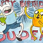Adventure Time! Birthday Card by sarahtheartiste