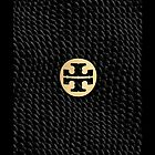 Tory Burch Black Snakeskin Print iPhone Cover by jlerner