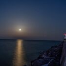 Pink Moon Breakwater by James Meyer