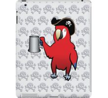 Red Pirate Parrot with a tankard iPad Case/Skin