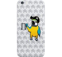 Yellow Pirate Parrot with a tankard iPhone Case/Skin