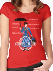Mary Poppins is a Time Lord Women's Fitted Scoop T-Shirt