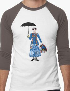 Mary Poppins is a Time Lord Men's Baseball ¾ T-Shirt
