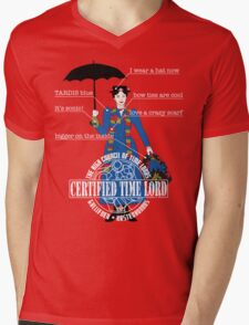 Mary Poppins is a Time Lord Mens V-Neck T-Shirt