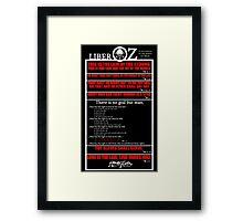 Liber OZ Framed Print