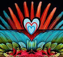 Parrot Love by Inner Child Art