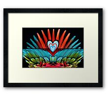 Parrot Love Framed Print