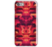 Abstract red geometric triangle texture pattern design (Digital Futrure - Hipster / Fashion) iPhone Case/Skin