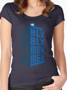 Wibbly wobbly Women's Fitted Scoop T-Shirt