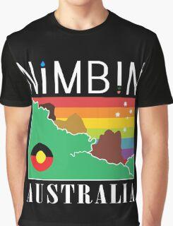 Nimbin Australia   1980's Patch Rendition Graphic T-Shirt