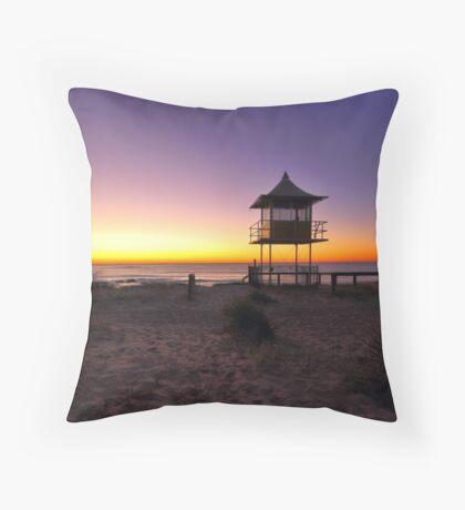 The Entrance Beach Sunrise Throw Pillow