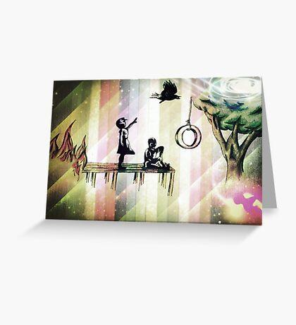 Banksy art in space Greeting Card