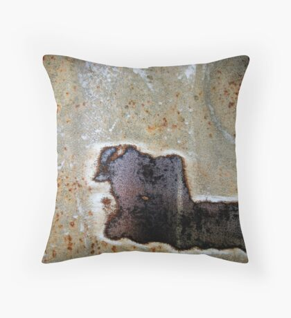 Charging Bull In Full Speed Throw Pillow