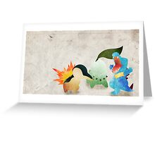 Johto Starters - Pokemon Greeting Card