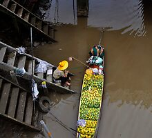 Floating Market Fruit Seller, Thailand by Duane Bigsby