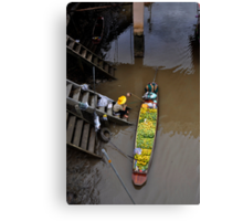 Floating Market Fruit Seller, Thailand Canvas Print