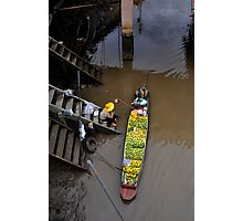 Floating Market Fruit Seller, Thailand Photographic Print