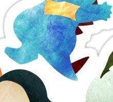 Johto Starters - Pokemon Sticker