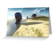 mesh island Greeting Card